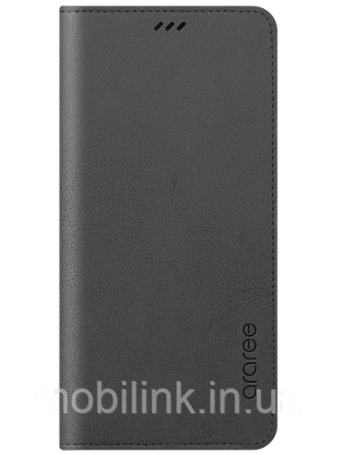 Чехол Araree Flip Wallet Leather Cover Charcoal Gray для Galaxy А8 (2018) A530
