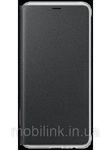 Чехол Samsung Neon Flip Cover Black для Galaxy А8 (2018) A530