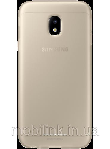 Чехол Samsung Jelly Cover EF-AJ330TFEGRU Gold для Galaxy J3 (2017) J330