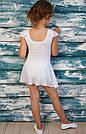 Купальник с юбочкой-хитоном белый, фото 2