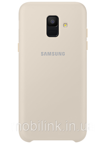 Чехол Samsung Dual Layer Cover Gold для Galaxy A6 A600