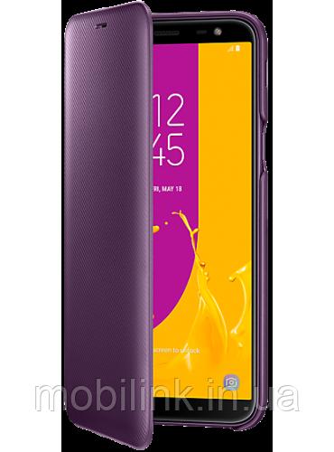 Чехол Samsung Wallet Cover Purple для Galaxy J6 J600