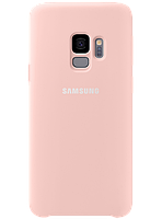 Чехол Samsung Silicone Cover Pink для Galaxy S9 G960, фото 1