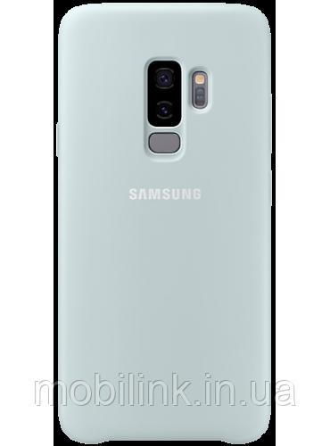 Чехол Samsung Silicone Cover Blue для Galaxy S9+ G965