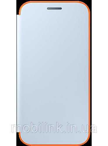 Чехол Samsung Neon Flip Cover EF-FA320PLEGRU Blue для Galaxy A3 (2017)