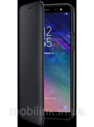 Чехол Samsung Wallet Cover Black для Galaxy A6 A600