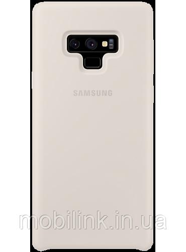 Чехол Samsung Silicone Cover White для Galaxy Note 9 N960