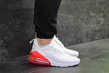 Мужские кроссовки Nike Air Max 270 сетка,белые с красным, фото 2
