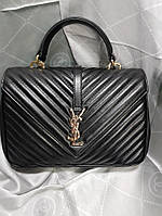 a4bfea5932ca Женская сумка-клатч копия YSL Yves Saint Laurent качественная эко-кожа цвет  черный