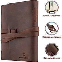 Кожаный блокнот COMFY STRAP коричневый с ручкой В6 (17,6х13,5х3,5 см) ручная работа, фото 3