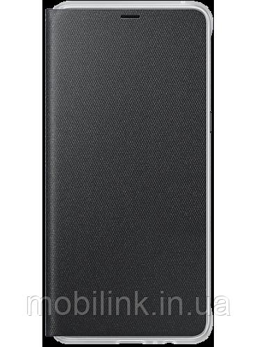 Чехол Samsung Neon Flip Cover Black для Galaxy А8+ (2018) A730