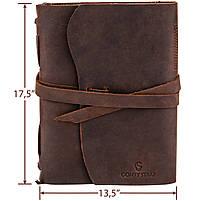 Кожаный блокнот COMFY STRAP коричневый с ручкой В6 (17,6х13,5х3,5 см) ручная работа, фото 4