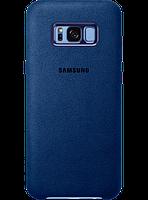Чехол Samsung Alcantara Cover EF-XG955ALEGRU Blue для Galaxy S8+ G955, фото 1