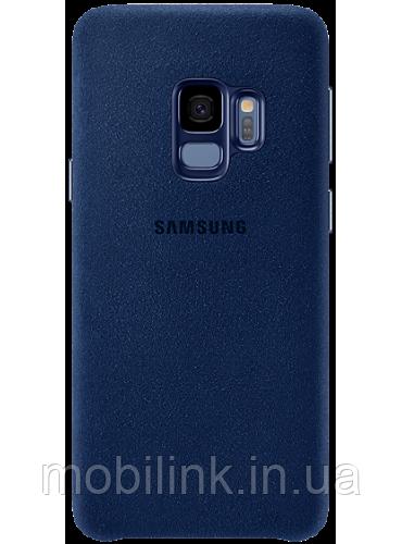Чехол Samsung Alcantara Cover Blue для Galaxy S9 G960