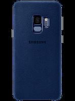 Чехол Samsung Alcantara Cover Blue для Galaxy S9 G960, фото 1