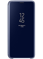 Чехол Samsung Clear View Standing Cover Blue для Galaxy S9 G960, фото 1