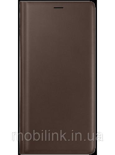 Чехол Samsung Leather Wallet Cover Brown для Galaxy Note 9 N960