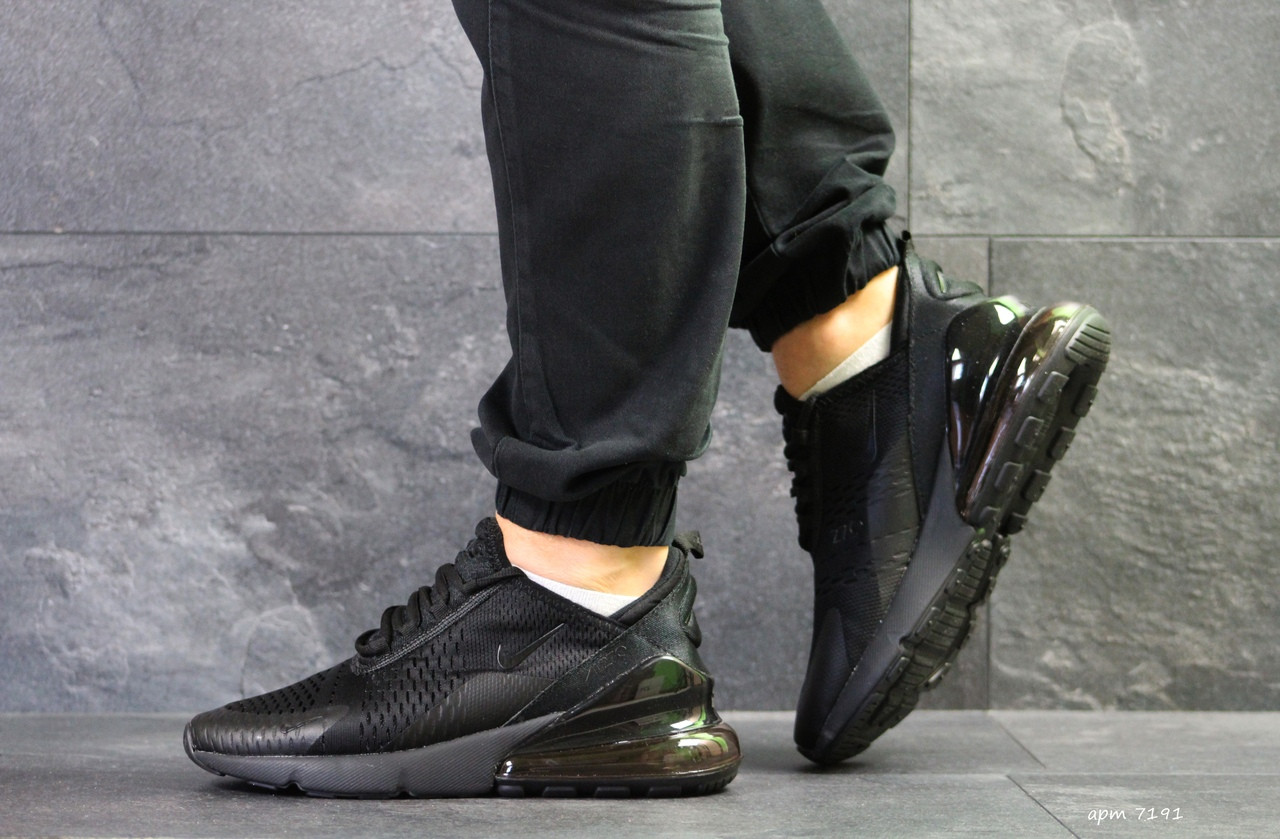 Мужские кроссовки Nike Air Max 270 сетка,черные 45р