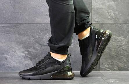 Мужские кроссовки Nike Air Max 270 сетка,черные 45р, фото 2