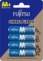 Солевая батарейка FUJITSU АА 4 шиип