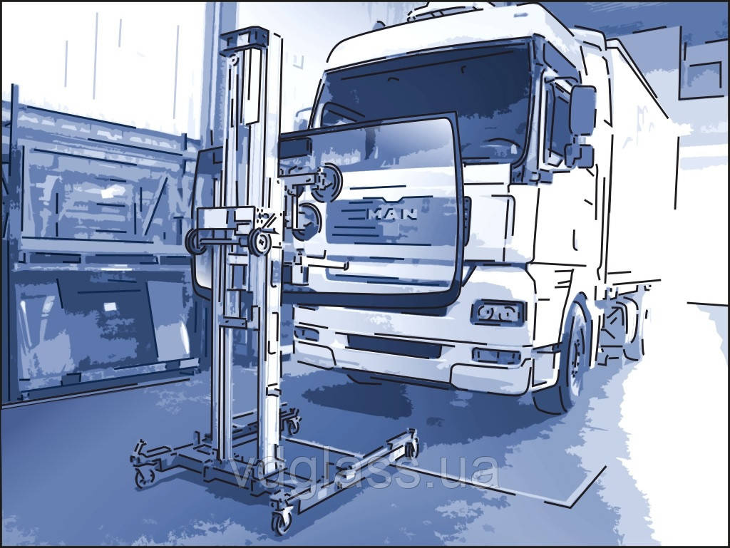 Заміна лобового скла на вантажівки MAN LE 12.180 в Нікополі, Києві, Дніпрі