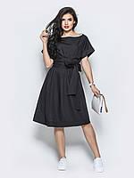 📐Оригинальное платье свободного кроя / Размер 44-50 / P12A7B1 - 98066 (чорне плаття, миди)