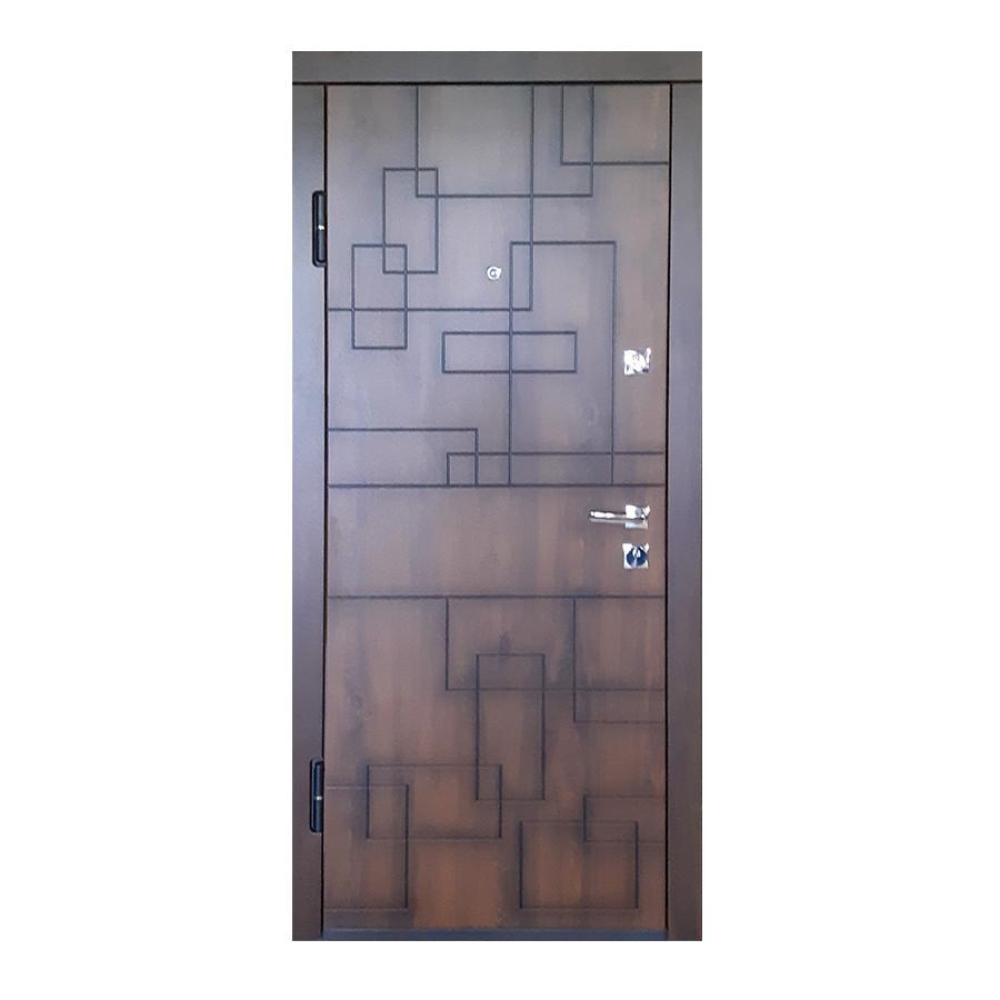 Входные двери ПВК-157 V Q Дуб темный Vinorit (Патина)