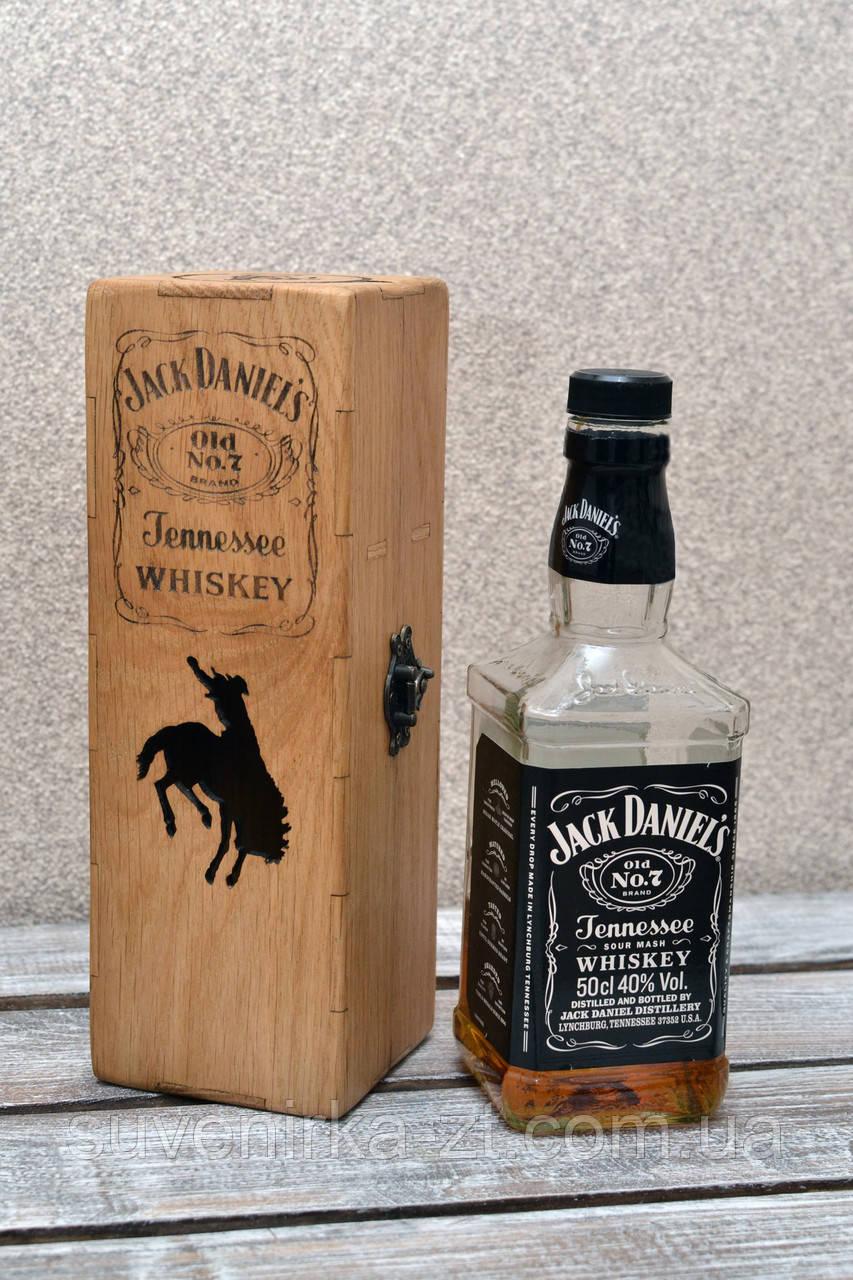 Дубовая коробка для виски Джек Дэниэлс (Jack Daniels) 0,5л (А00801)