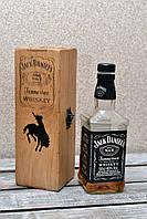 Дубовая коробка для виски Джек Дэниэлс (Jack Daniels) 0,5л