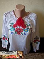 Рубашка вышиванка для девочки 128,134