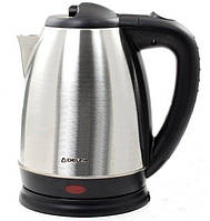 Чайник металлический электрический 1, 7 Л.  DELFA 3000 Х, электрочайник