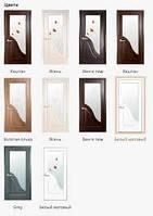Дверь Амата стекло сатин с рисунком, без рисунка,глухие, глухие с рисунком
