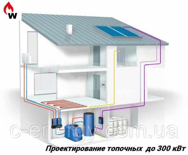 Проектирование топочных до 300 кВт