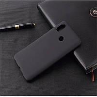 Чехол для Xiaomi Mi Mix 3 силикон soft touch бампер черный