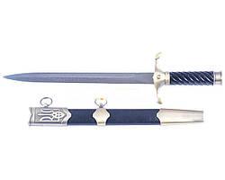 Кортик / кинжал украинский ВМС с гербом Украины в бронзе сувенирный  + ножны, точная копия наградного оружия