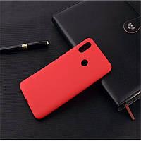 Чехол для Xiaomi Mi Mix 3 силикон soft touch бампер красный