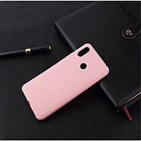 Чехол для Xiaomi Mi Mix 3 силикон soft touch бампер светло-розовый