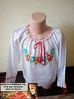 Рубашка вышиванка для девочки свободного кроя 110, 116, 140, 146, 152