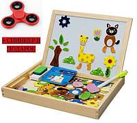 Деревянная магнитная развивающая игрушка