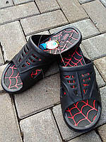 Сланцы мужские черные паутина (40-46) Даго, фото 1