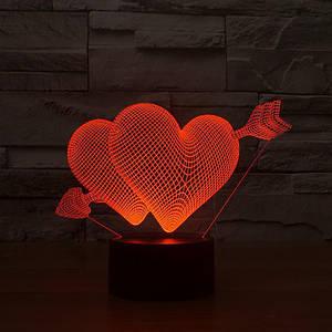 Настольный светильник с 3D эффектом | 3D ночник | Идеальный подарок на 14 февраля