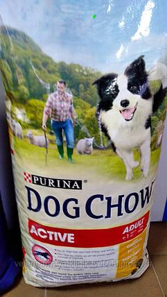 """Корм для собак """"DOG CHOW   Active"""" 14кг.( от 1 до 9 лет)., фото 2"""