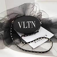 Женская круглая сумка копия Валентино Valentino качественный кож заменитель дорогой Китай черная, фото 1