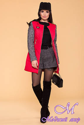 Женское демисезонное стеганное пальто арт. Матео 5654, фото 2