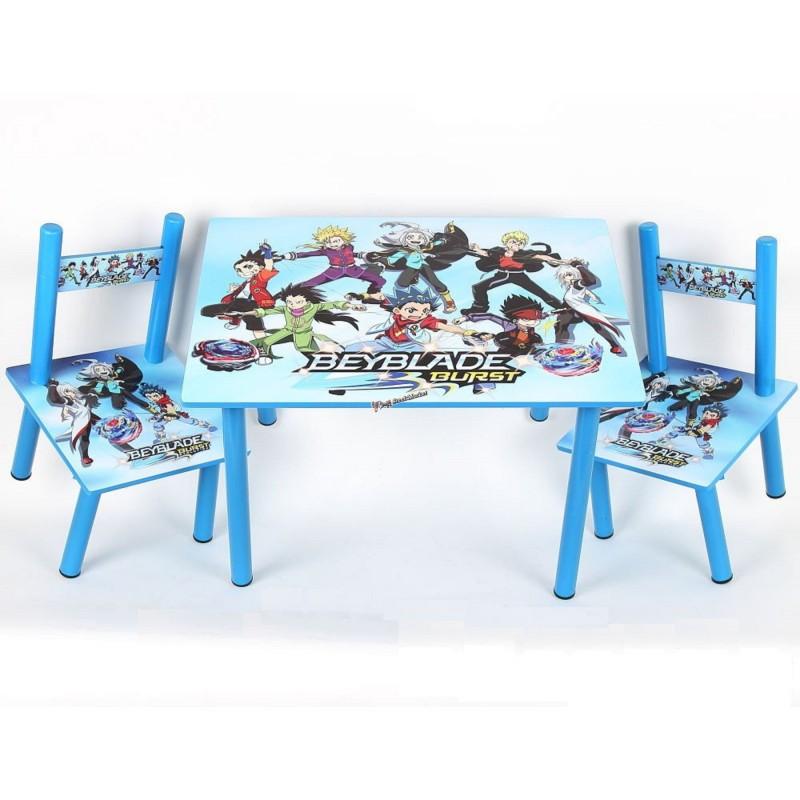 Детский столик и 2 стульчика серия мультфильма Beyblade