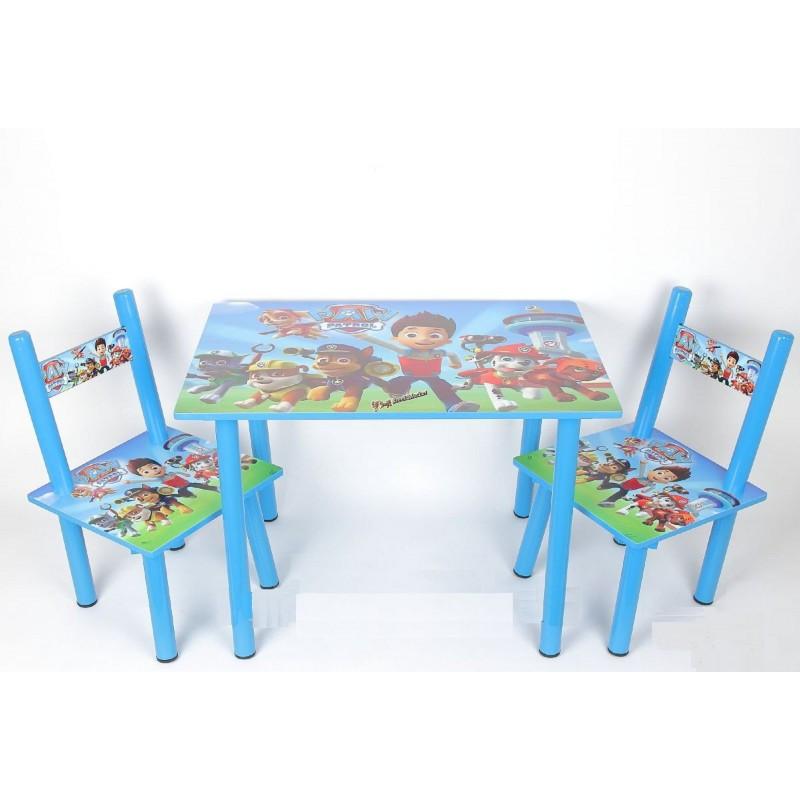 Детский столик и 2 стульчика серия мультфильма Щенячий патруль
