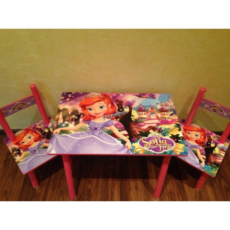 Детский столик и 2 стульчика серия мультфильма София