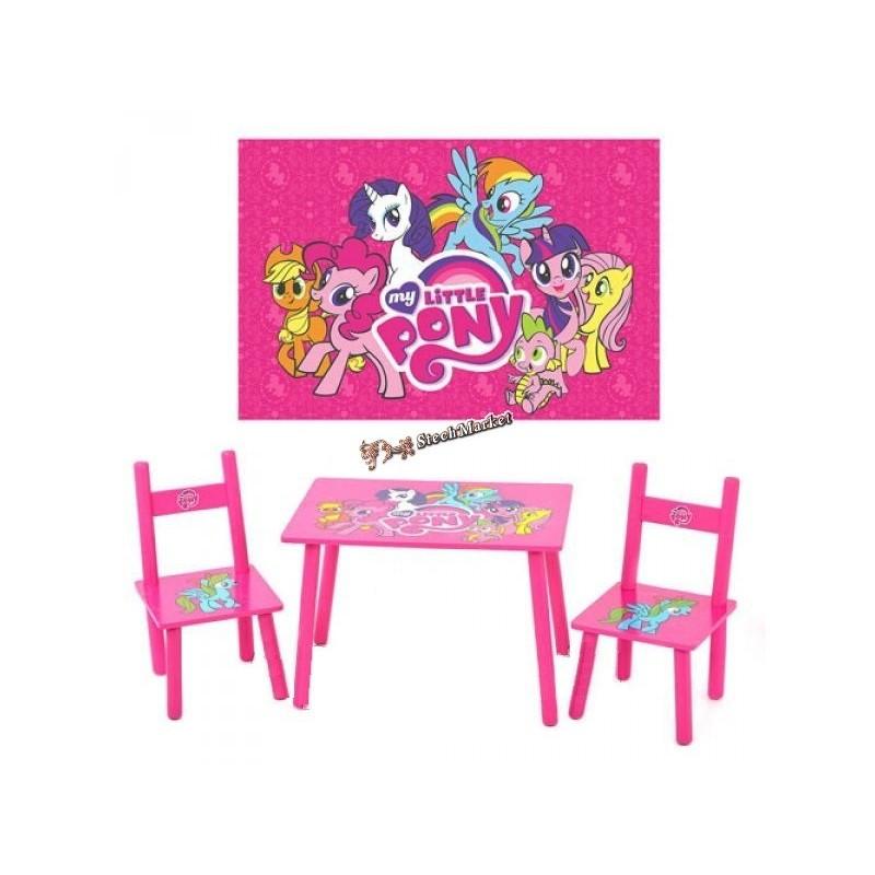 Детский столик и 2 стульчика серия мультфильма My Little Pony