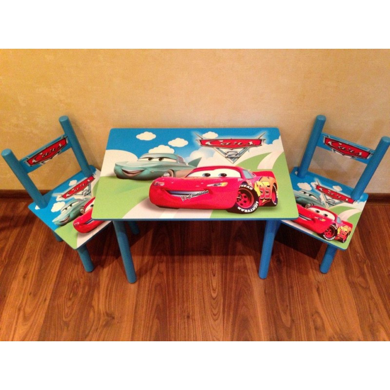 Детский столик и 2 стульчика серия мультфильма Тачки