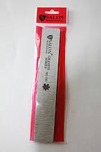 Пилка для ногтей Salon Professional 180/240, прямая широкая, серая